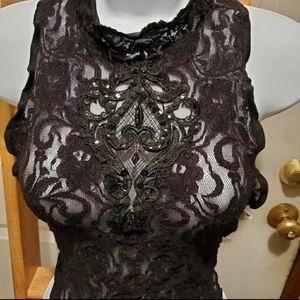 Cinema Etoile black bodysuit lingerie